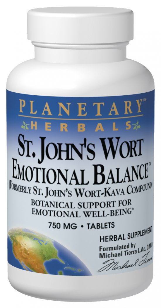 PLANETARY HERBALS: St. John's Wort Emotional Balance 120 tabs