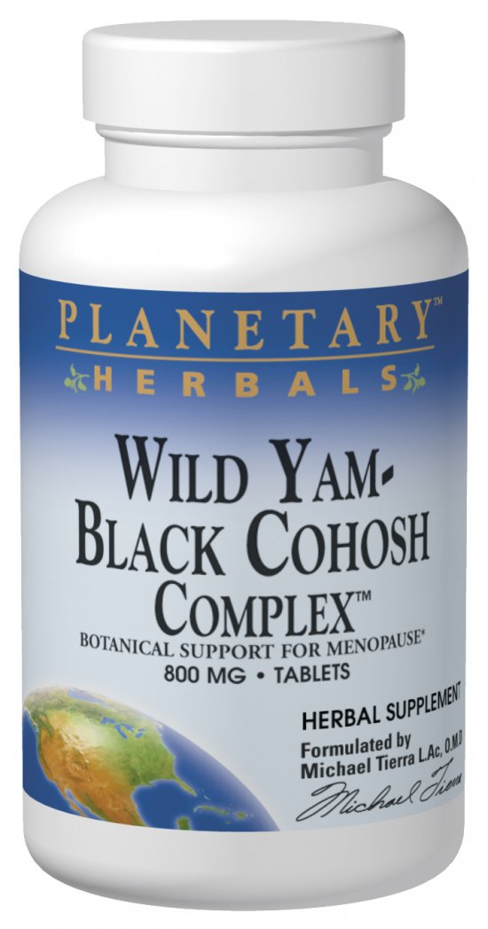 PLANETARY HERBALS: Wild Yam-Black Cohosh Complex 60 tabs