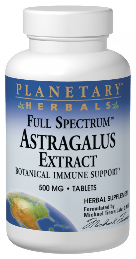 PLANETARY HERBALS: Full Spectrum Astragalus Extract 120 tabs