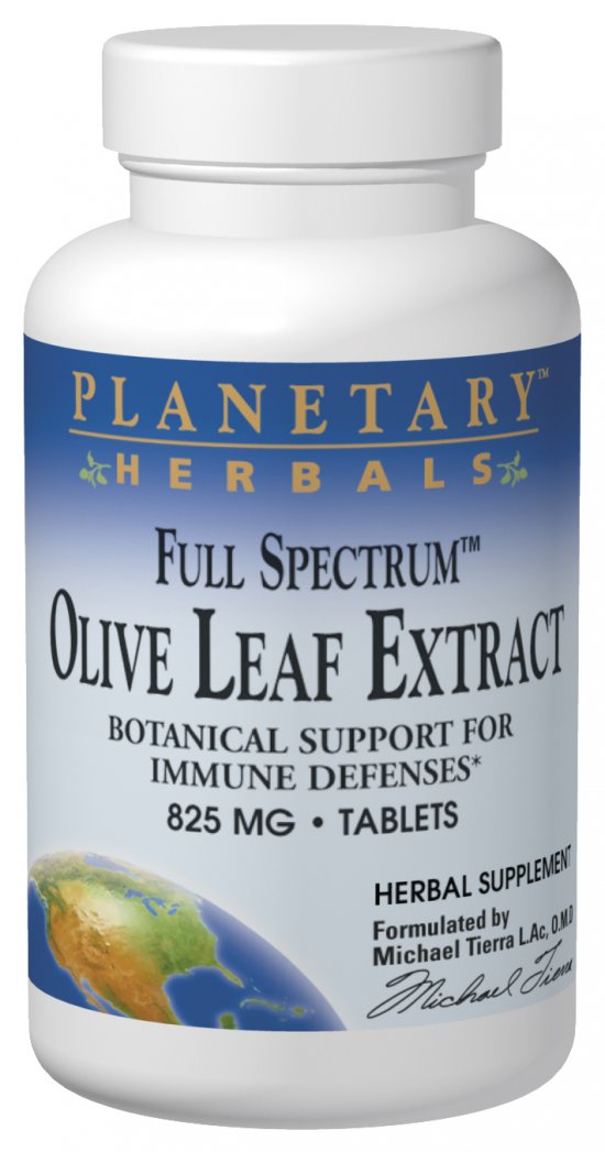 PLANETARY HERBALS: Full Spectrum Olive Leaf Extract 30 tabs