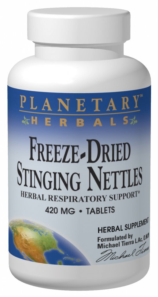 PLANETARY HERBALS: Freeze Dried Stinging Nettles 60 Tabs