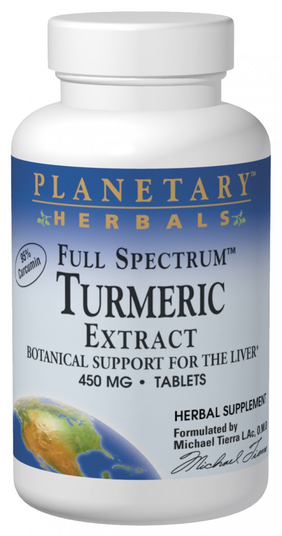 PLANETARY HERBALS: Full Spectrum Turmeric Extract 450 mg 60 Tablets
