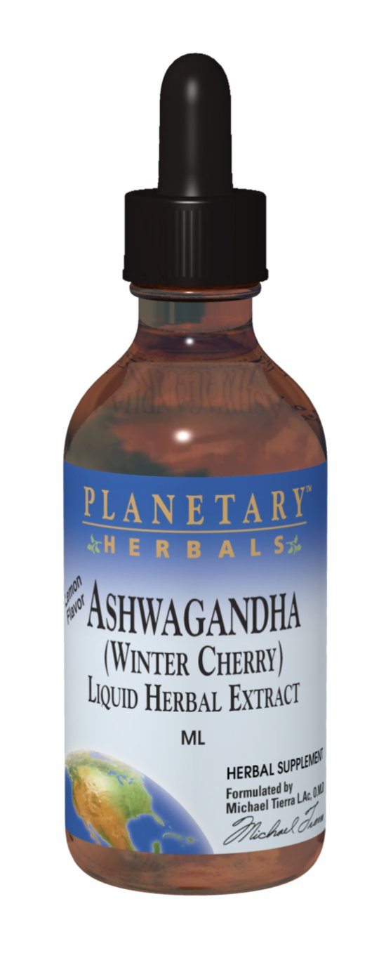 PLANETARY HERBALS: Ashwaganda Liquid Herbal Extract - Lemon 1 fl oz