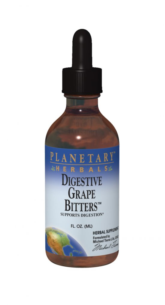 PLANETARY HERBALS: Digestive Grape Bitters 2 fl oz