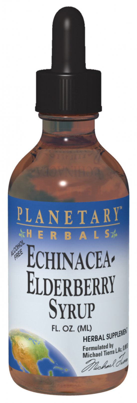 PLANETARY HERBALS: Echinacea-Elderberry Syrup 2 fl oz