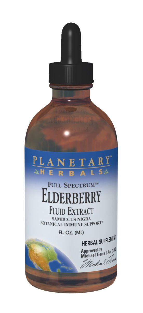 PLANETARY HERBALS: Full Spectrum Elderberry Fluid Extract 2 fl oz