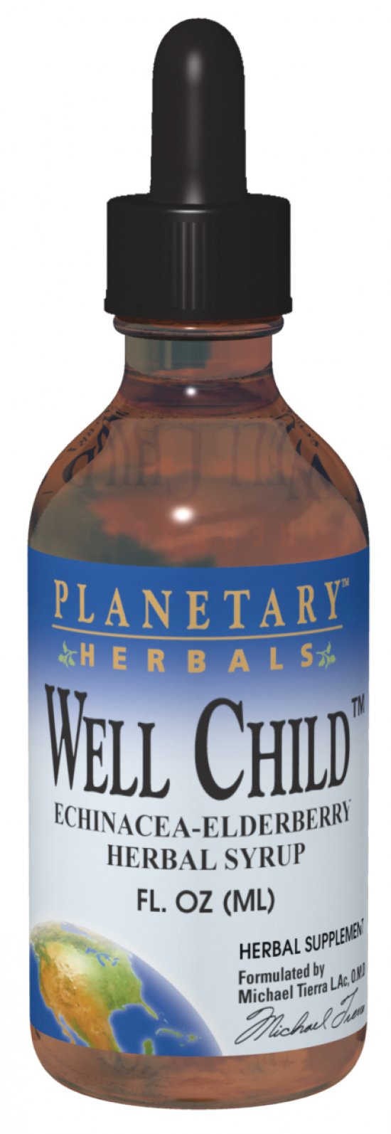 PLANETARY HERBALS: Well Child Echinacea-Elderberry Syrup 8 fl oz