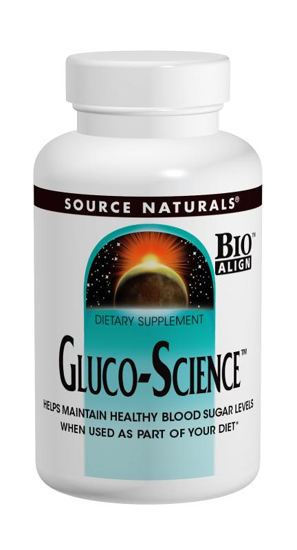 SOURCE NATURALS: Gluco-Science 180 tabs