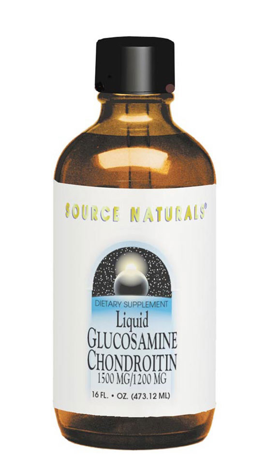 SOURCE NATURALS: Glucosamine Chondroitin Liquid 1500  1200 mg 16 fl oz