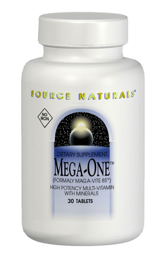SOURCE NATURALS: MEGA-ONE  No Iron 30 tabs