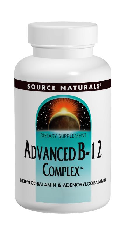 SOURCE NATURALS: Advanced B-12 Complex 30 tabs
