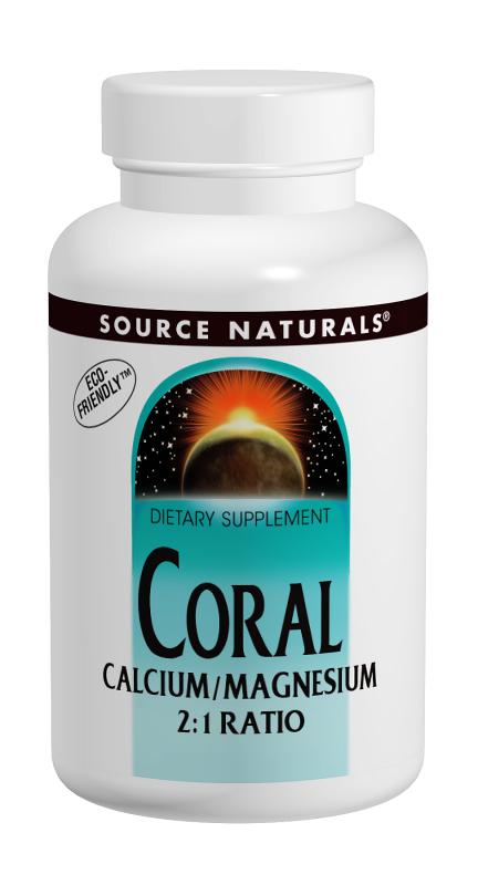 SOURCE NATURALS: Coral Calcium  Magnesium 2 to 1 Ratio 180 tabs