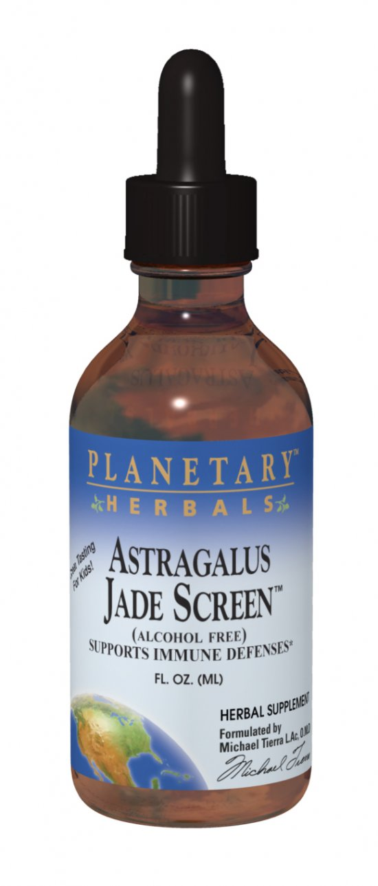 PLANETARY HERBALS: Astragalus Jade Screen (alcohol free) 2 oz