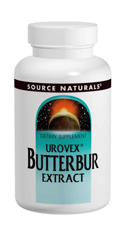 SOURCE NATURALS: Butterbur Extract (Urovex) 60 sg