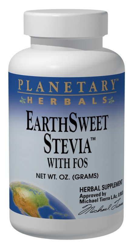 PLANETARY HERBALS: Stevia Sweetleaf With FOS Powder 2 oz
