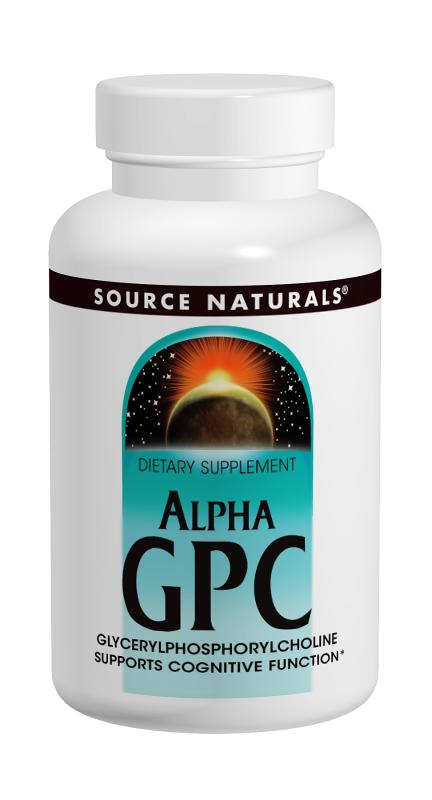 SOURCE NATURALS: Alpha GPC 300 MG 60 caps