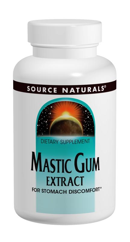SOURCE NATURALS: Mastic Gum Extract 500MG 30 caps