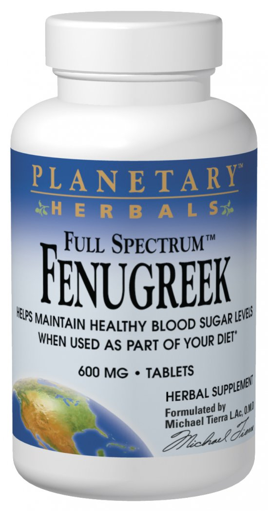 Full Spectrum Fenugreek 600 mg, 120 Tablets