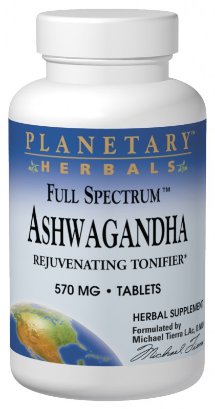 PLANETARY HERBALS: Full Spectrum Ashwaganda 60 tabs