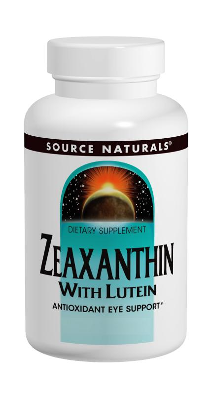 SOURCE NATURALS: Zeaxanthin with Lutein 10mg 60 Caps