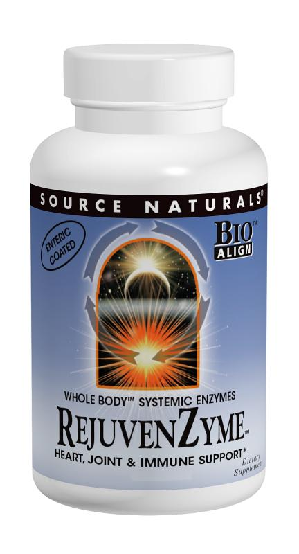 SOURCE NATURALS: RejuvenZyme - Heart Joint and Immune Support 120 Capsules