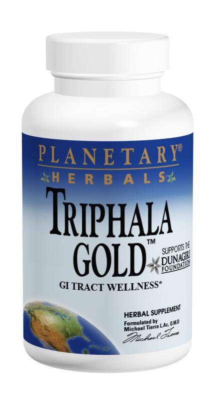 PLANETARY HERBALS: Triphala Gold 120 tablets 1000mg blend