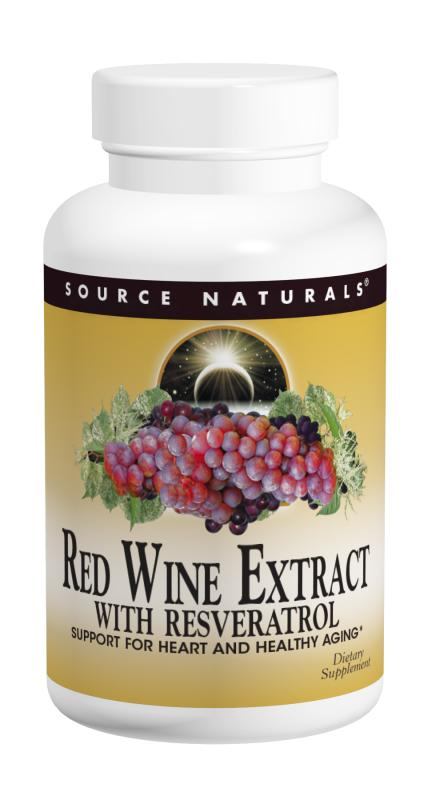 SOURCE NATURALS: Red Wine Extract with Resveratrol 60 tabs