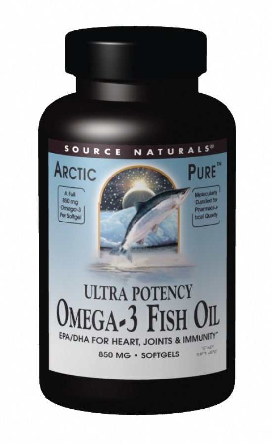 SOURCE NATURALS: Ultra Potency Omega-3 Fish Oil 60 SG - EPA 450mg DHA 340mg