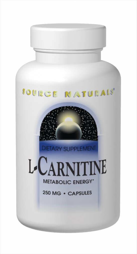 SOURCE NATURALS: L-Carnitine Fumarate 250mg 120 capsules