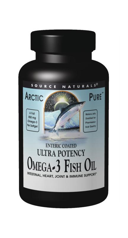SOURCE NATURALS: Enteric Coated Omega-3 Fish Oil 30 SoftGels
