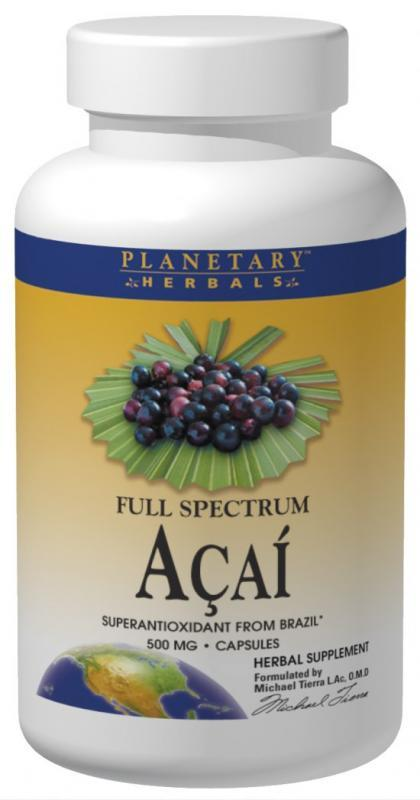 ACAI Full Spectrum 1000mg 120 capsules from PLANETARY HERBALS
