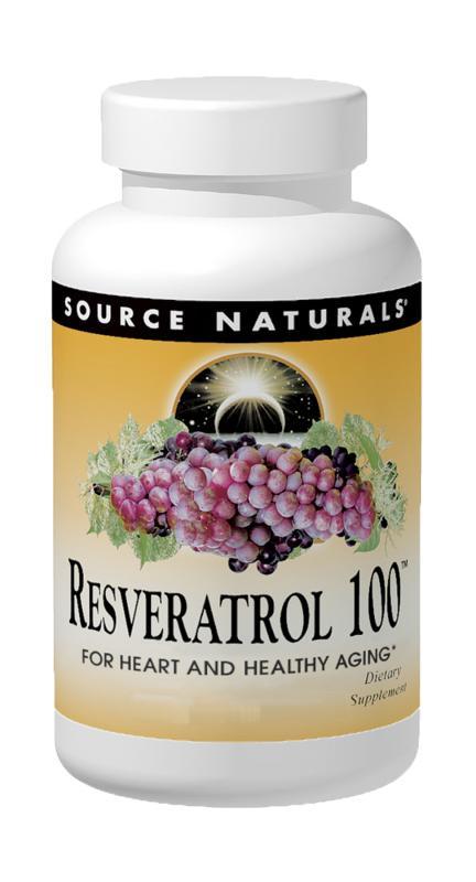SOURCE NATURALS: Resveratrol 100mg 30 tabs