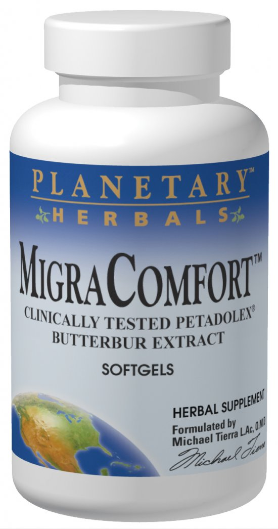 Migra Comfort 50mg softgels(Butterbur) 30 sg from PLANETARY HERBALS