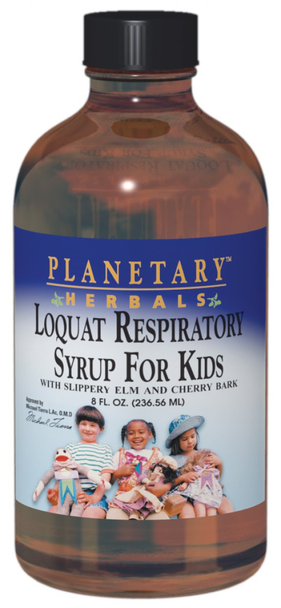PLANETARY HERBALS: Planetary Loquat Respiratory Syrup for Kids 4 oz
