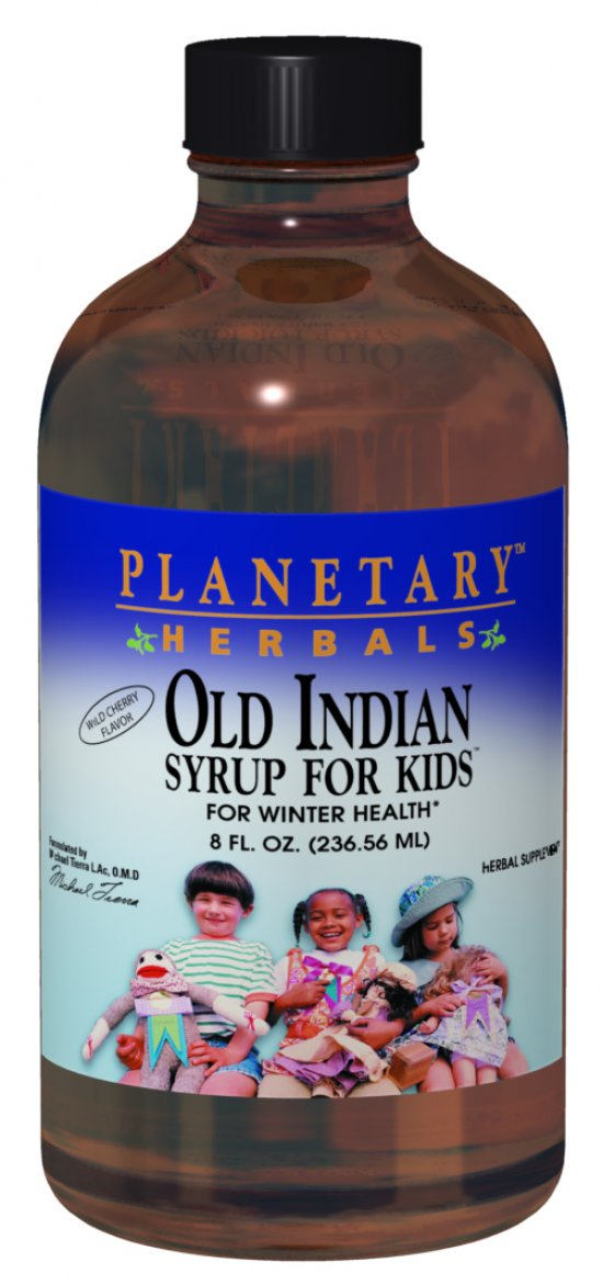 PLANETARY HERBALS: Old Indian Syrup for Kids 8 oz