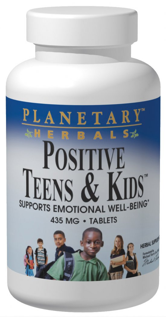 PLANETARY HERBALS: Positive Teens And Kids 60 Tabs