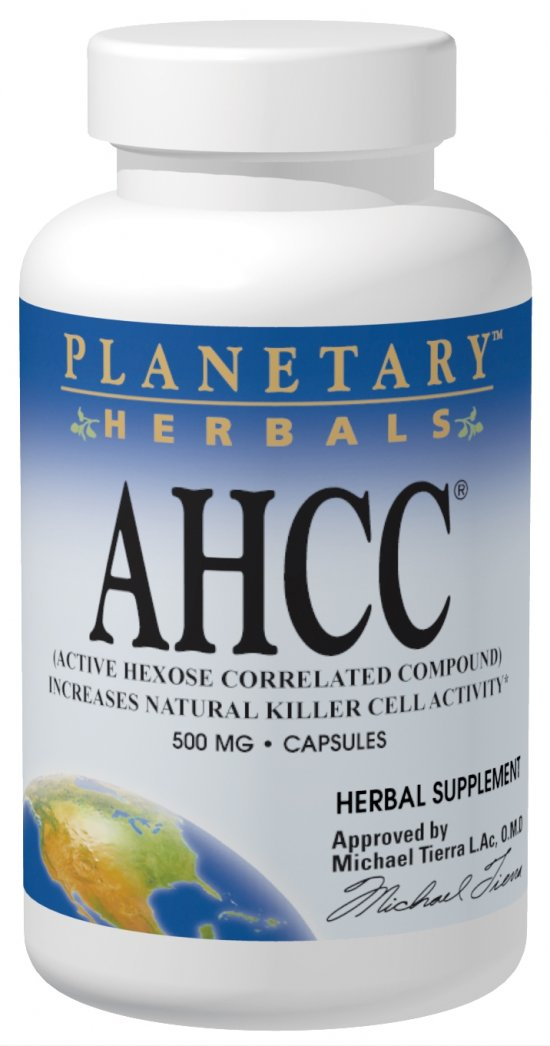 PLANETARY HERBALS: AHCC Active Hexose Correlated Compound 500mg 30 caps