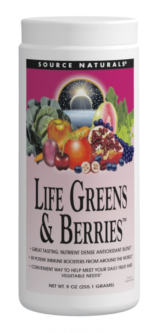 SOURCE NATURALS: Life Greens And Berries 9oz Powder