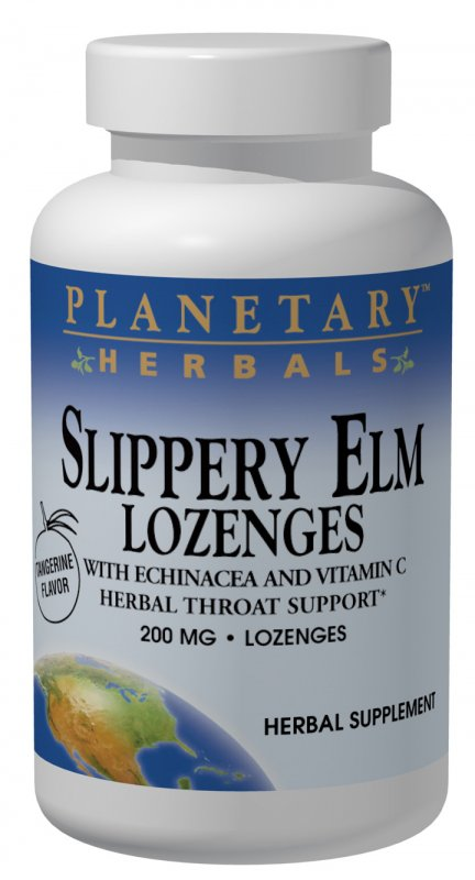 PLANETARY HERBALS: Slippery Elm Lozenges 24 tabs