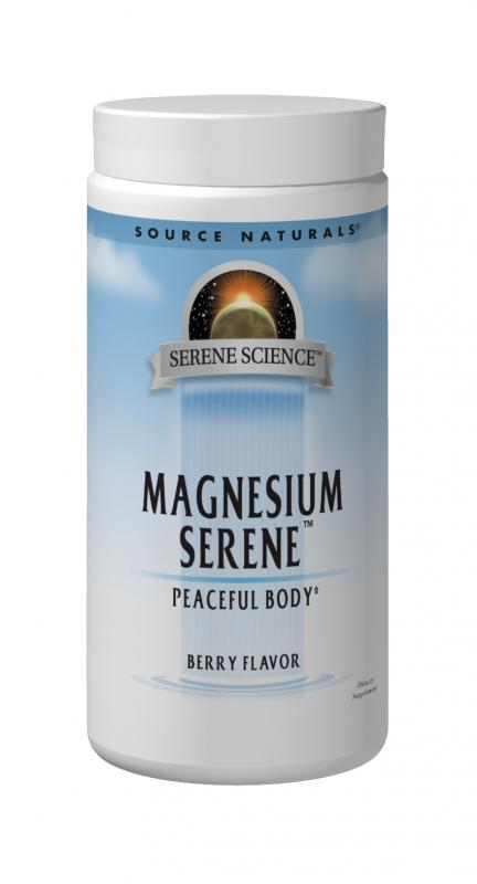 SOURCE NATURALS: MAGNESIUM SERENE BERRY FLAVOR 9 OZ