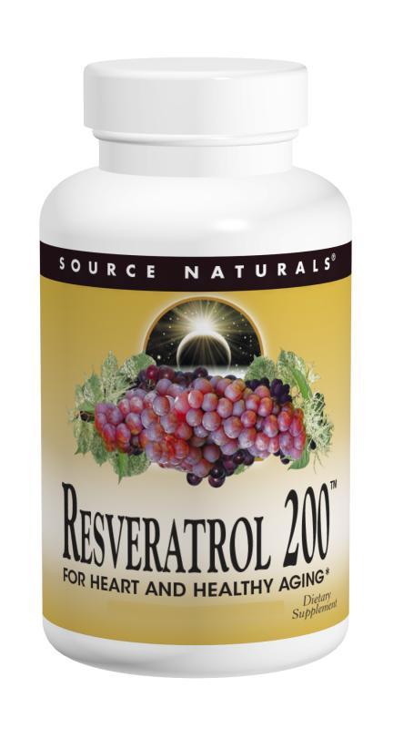 SOURCE NATURALS: Resveratrol 200mg 120 tabs