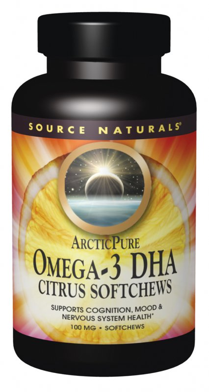 Source Naturals: ArcticPure Omega 3 DHA Citrus Softchews 30 chews