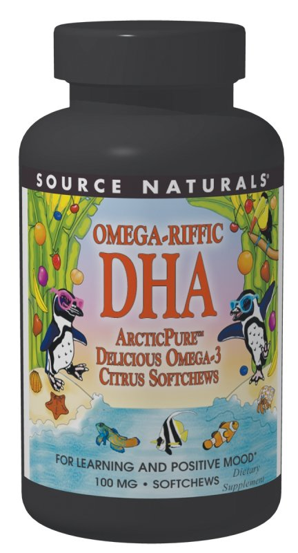 Source Naturals: Omega-Kid Omega-Riffic DHA Citrus Softchews 30 chews