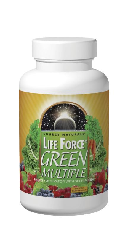 SOURCE NATURALS: Life Force Green Multiple 180 Tabs