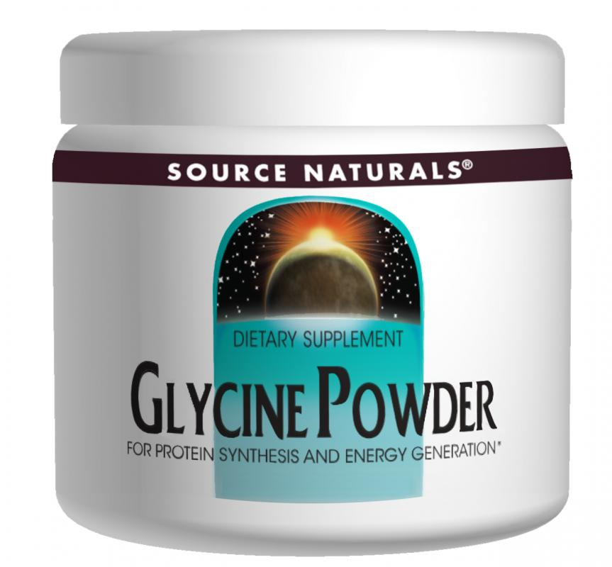 SOURCE NATURALS: Glycine Powder 453.6 OZ