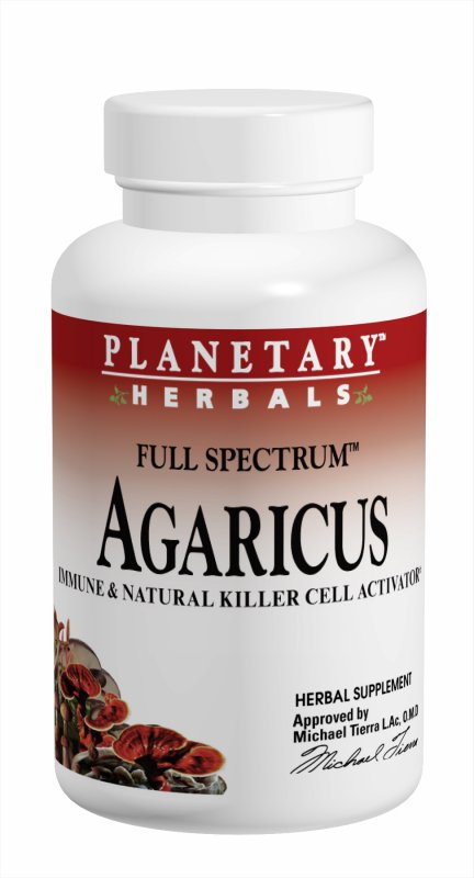 PLANETARY HERBALS: Agaricus Extract 500mg 90 Capsules