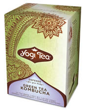 YOGI TEAS/GOLDEN TEMPLE TEA CO: Green Tea With Kombucha & Chinese Herbs 16 bags