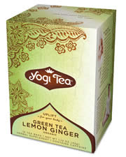 YOGI TEAS/GOLDEN TEMPLE TEA CO: Green Tea Lemon Ginger 16 bags