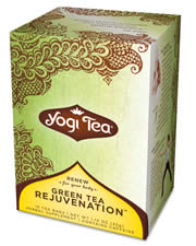 YOGI TEAS/GOLDEN TEMPLE TEA CO: Cat's Claw & Kombucha Tea (also known as Green Tea Rejuvenation) 16 bags