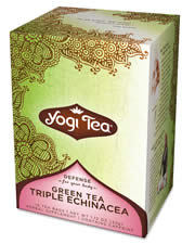 YOGI TEAS/GOLDEN TEMPLE TEA CO: Green Tea With Echinacea, Kombucha & Elderberry 16 bags